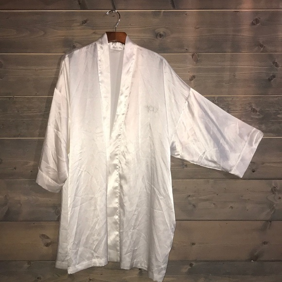 Christian Dior Silky White Robe by Christian Dior